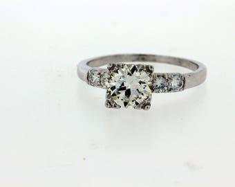 Platinum  1.54ct VS1, L Diamond  Ring