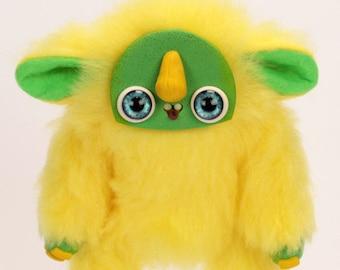 LIMON - posable art doll animal - fantasy creature - troll - art doll creature- ooak polymer clay doll - weird doll - odd doll- fantasy doll