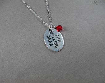 The Walking Dead Charm Necklace - Silver