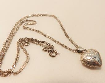Vintage Sterling Silver Heart Locket
