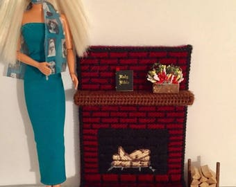 11 inch Doll Fireplace