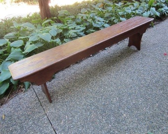 Primitive Bench/ Extra Long Wood Bench/ Rustic Bench/ Farmhouse Bench/  Farmhouse Decor