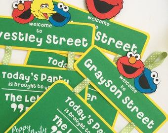 Sesame street party, Elmo Door Sign, Sesame Street Birthday Sign, Elmo Birthday Sign, Birthday Door Sign, Party Sign, Door Banner