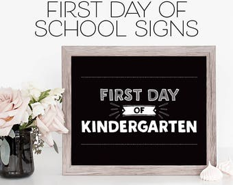 First Day of School Sign Set - First Day of School Signs - Chalkboard Sign - First Day of School Bundle - Printable First Day of School Sign