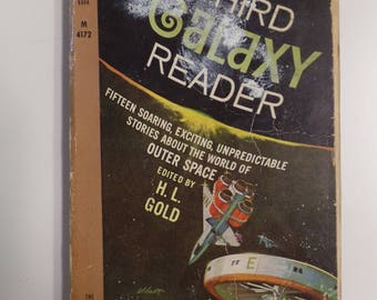 The Third Galaxy Reader ed. H.L. Gold Perma Books 1960 Vintage Sci-Fi Paperback
