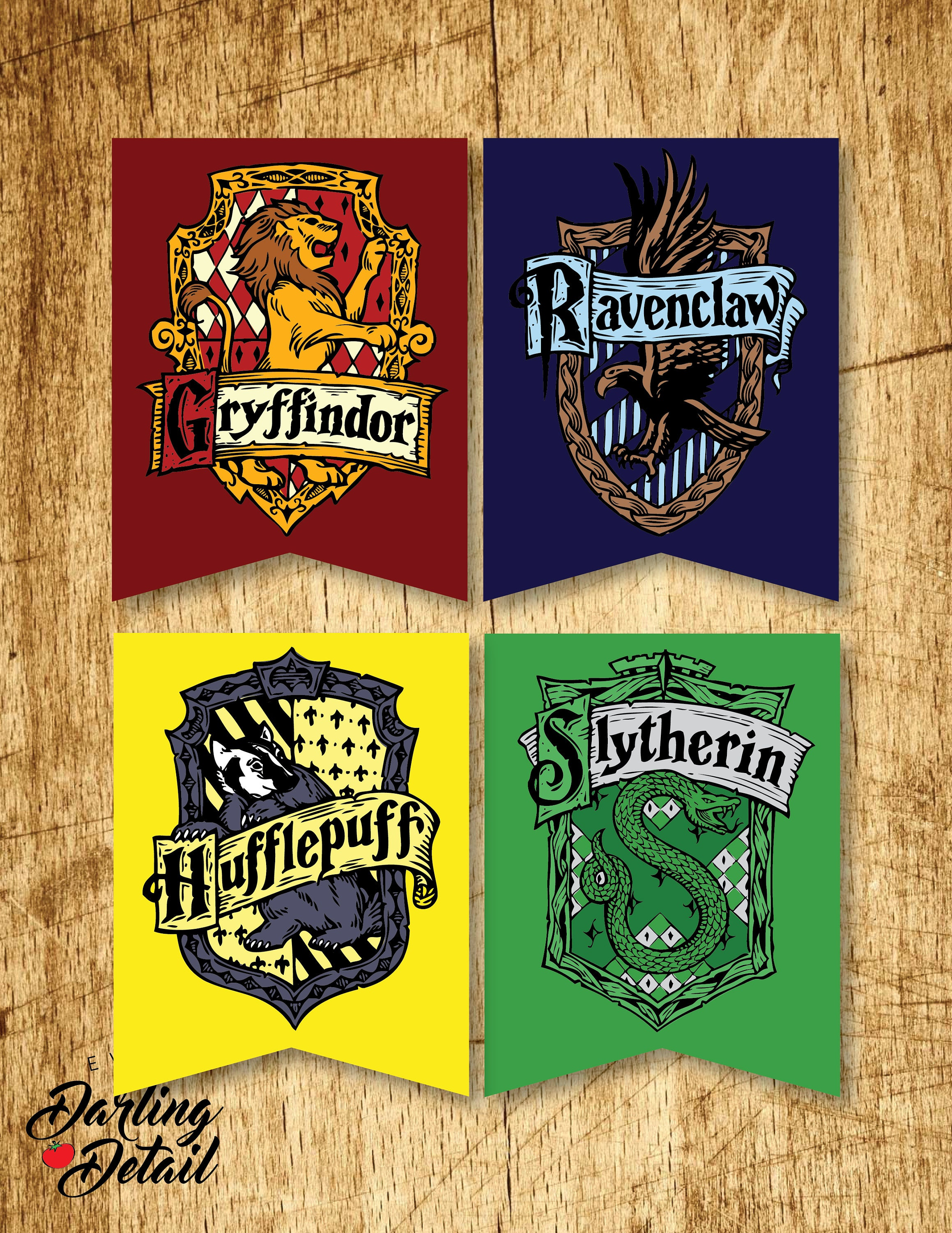 harry potter printable hogwarts house crest banners. Black Bedroom Furniture Sets. Home Design Ideas