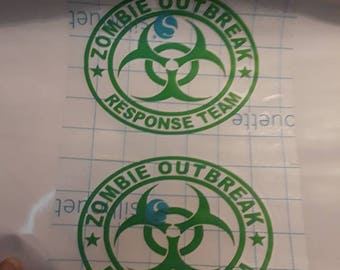 Zombi Outbreak Vynil Decal