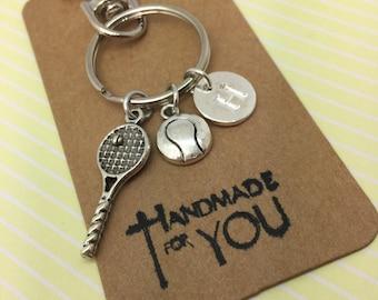 Tennis Gift, Tennis themed gifts, Tennis Keyring, Tennis Keychain, Tennis Fan, Hobby Gifts