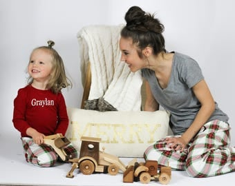 Kids Christmas Pajama PRE-ORDER, 2017 100% Organic Cotton, Christmas PJs, Matching Family Pajamas, Order now! TARTAN