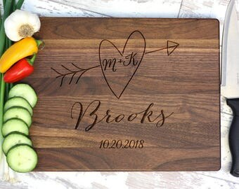 Personalized Cutting Board, Custom Cutting Board, Engraved Cutting Board, Monogrammed Cutting Board, Custom Wedding Gift