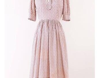1950's Floral Shirt Dress l M