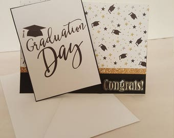 Graduation Card, Graduation Day, Congratulations, Grad Cap, Elementary, Highschool, College, University Graduate, Female, Girl, Male, boy