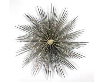 Signed Ron Scmidt Welded Nail Sunburst Wall Scupture 1970's