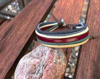 Mens Bracelet Boyfriend Gift Mens Bracelet Leather Gift For Him Gift Under 10 JLA-9