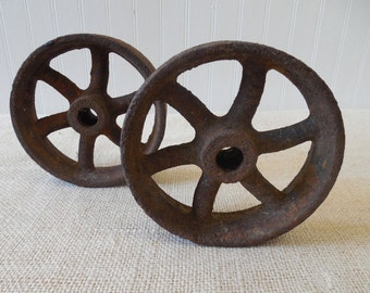 Antique Cast Iron Wheels ~ Found Objects