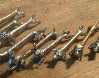 Set of 10 animal-shapped knive-rests
