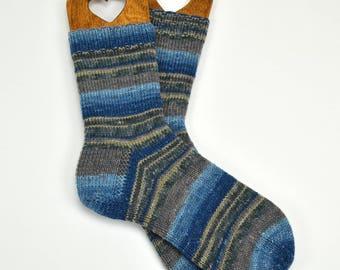 hand knit mens socks, wool socks, handmade socks, gift for men, warm winter socks, warm socks , thick socks, UK 8-9  US 8,5-9,5