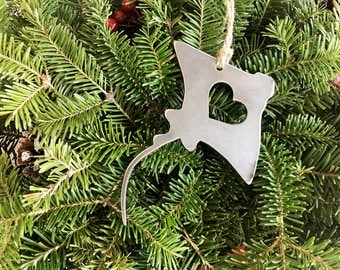 Sting Ray Ornament Rustic Raw Steel Metal Ocean Sea Beach Christmas Tree Ornament Holiday Gift Industrial Decor Gift By BE Creations