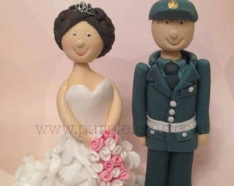 Custom Made Bride & Groom Sugar paste Wedding Cake Toppers