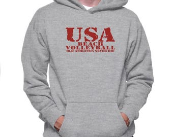 Old Athletes Beach Volleyball Hoodie