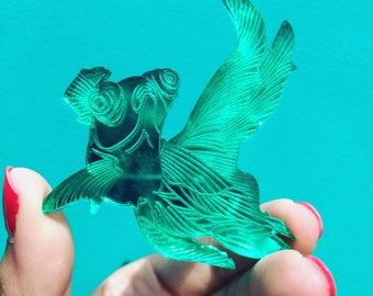 Brooch fish plexiglass, jewelry, PIN to offer