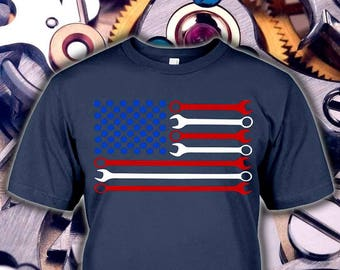 USA Flag Mechanic Shirt - Mechanic Gifts - Mechanic Tshirt - Mechanic Mug - Mechanic Hoodie - Mechanic Flag Tee - Kids to 5XL Sizes!
