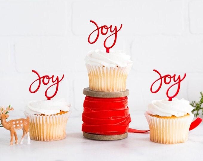 Chistmas Cupcake Cupcake Topper, Christmas Toppers, Holiday Cupcake Topper, Christmas Decor, Joy to the World Holiday Decor, hyp410