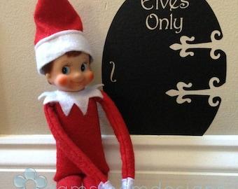 Elf Door - Elf on the Shelf - Wall Decal - Elf Door Decal