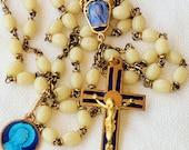 Rosary - Lourdes Cloisonné Vintage Rosary