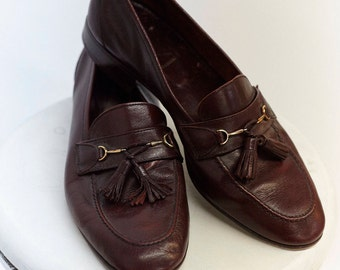 Italian Leather Loafers - Size 42