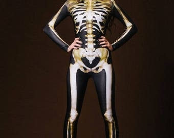 Halloween Costume for Adults, Glow in the Dark Costume, Halloween Leotard, Women Halloween Costume, Halloween Outfit, Sexy Womens Costume