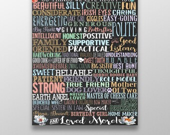 60 years old, 60th birthday board, things we love about you sign, loving gift for parent or grandparent, unique 60th birthday gift BRDHON04