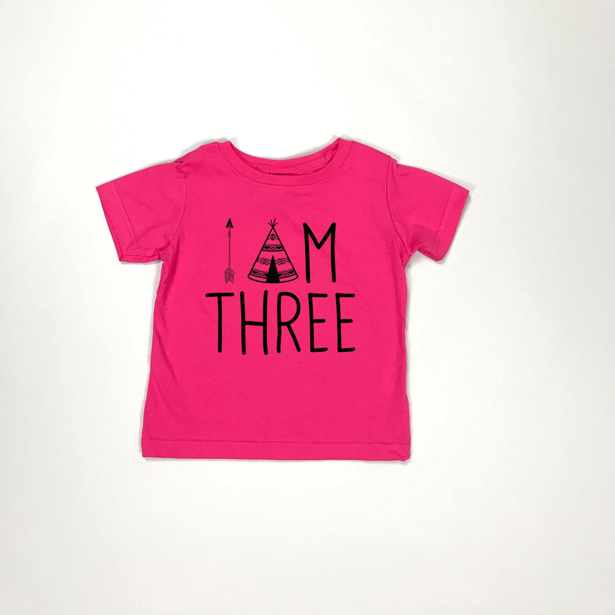 I Am Three Young Wild And 3rd Birthday Shirt Third