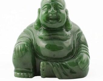 Canadian Nephrite Jade Happy Buddha