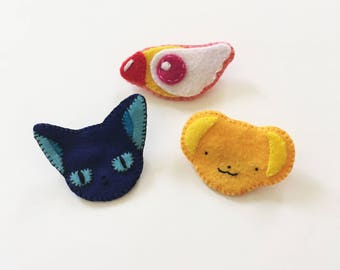 Handmade Cardcaptor Sakura Felt Badges