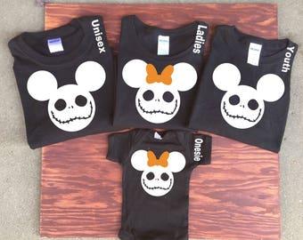 Skeleton Disney Shirt , Disney Halloween T-Shirts, Minnie and Mickey Shirts ,Disney Family Vacation Tee's, Halloween Family Shirts