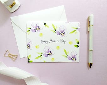 Happy Mothers Day Card, Mother's Day Card, Mothers Day Card, Floral Cards, Mothers Day Card Floral, Mothers Day Card Unique
