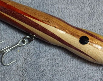 "Fishing Lure, Assorted Quality Hardwoods, 7"" and 3.0 oz  Black Eyed Lures, Free Shipping # L50"