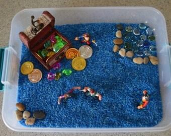 Sensory Bin-Pirate Sensory Bin-Pirate Toy-Messy Play-Treasure Chest-Discovery Box-Preschool Toy-Educational Activity-Kids Birthday Present