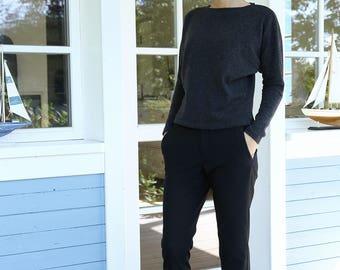 Soft Merino Wool Sweater | Women Sweater | Pullover Kimono Sleeves | Comfy Sweater | Wool Sweater | French Sweater | Wool Costume |