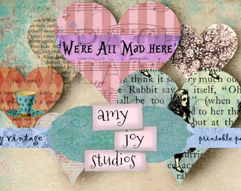 Alice in Wonderland clipart vintage  Alice journal  journal printables shabby chic   junk journal vintage  digital journal kits