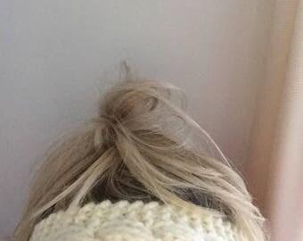 Chunky Knit Cabled Headband // Earwarmer