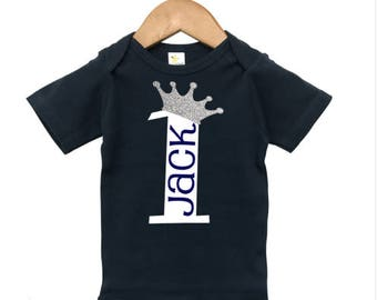 Boys First Birthday Outfit, Boys Birthday shirt or Onesie, Little Prince Birthday Shirt, Prince Onsie, First Birthday Boy, Personalized