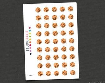 Basketball Icons - Planner Stickers - Repositionable Matte Vinyl - Suits All Planners
