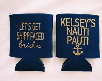Nauti Pauti Koozies // Bachelorette Party Koozies // Nautical Bachelorette Party // Cruise Bachelorette Party // Beach Bachelorette Party