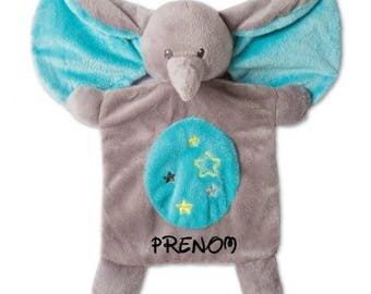 Elephant blankie to customize the name of your choice