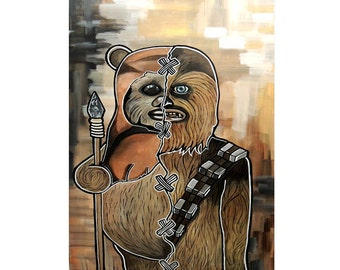 Chewbacca/Ewok Print 11x14in