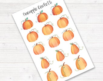 Pumpkin Stickers, Planner Stickers, Fall Stickers, Deco Stickers, Halloween Stickers, Thanksgiving Stickers, Bullet Journal Stickers