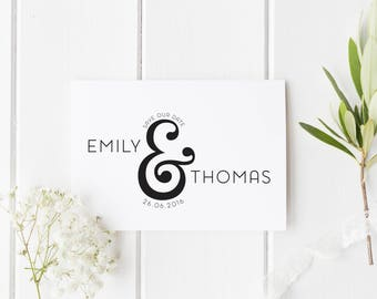 Modern Save Our Date Card, Simple Save The Date, Ampersand Save The Date Card, Ultra Modern Save The Date, Simple Wedding Invitation