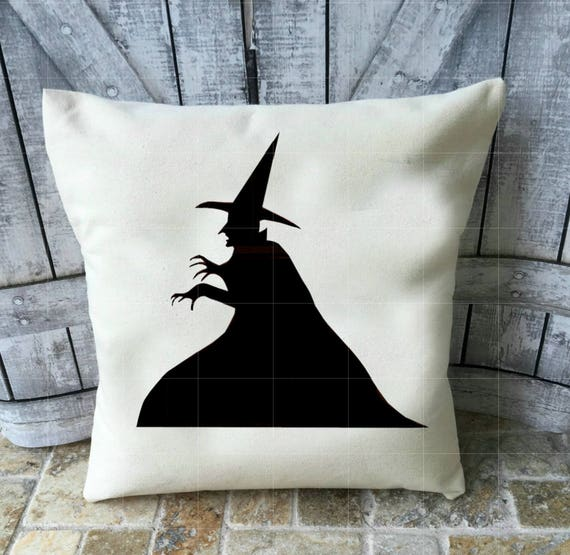 Halloween Pillow, Witch Pillow, Canvas Pillow, Halloween Decoration, Wicked Witch, Wizard of Oz, Melting Witch, I'm Melting, Halloween Decor